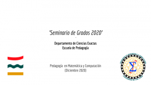 Defensas Seminario de Grado 2020
